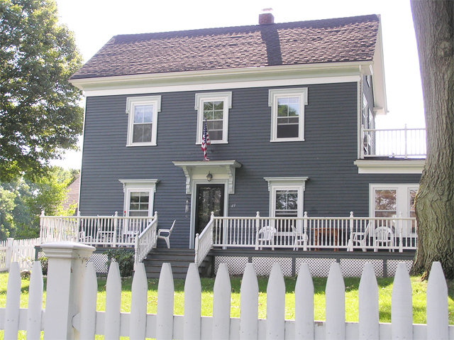 This is the Austin Measures house on Turkey Shore Road, built in 1874.