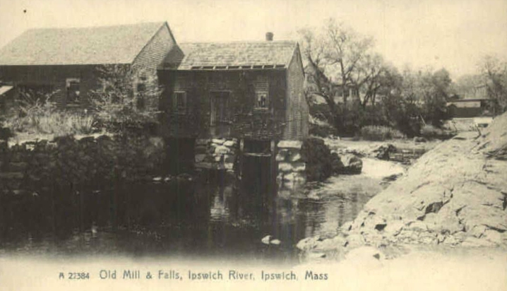 The sawmill at the County Street bridge