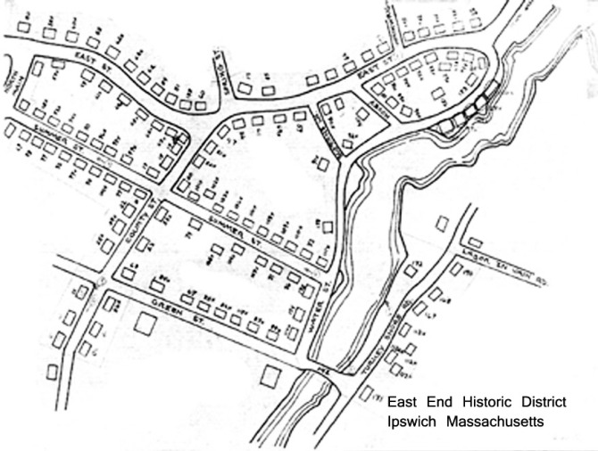 East End Historic District map