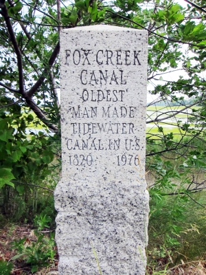 Fox Creek marker on Argilla Road