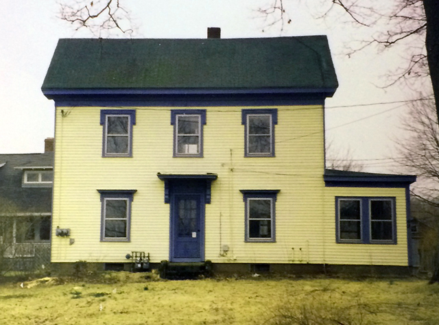 The Austin Measures house before it was restored in 2002.