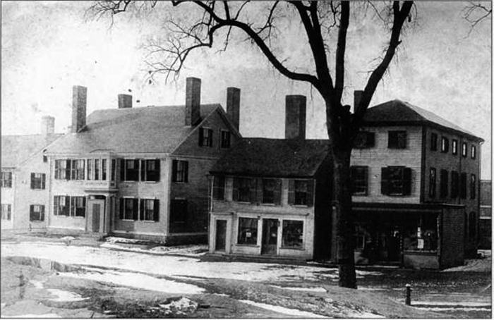 Measures Candy shop was originally located in the small building on N. Main St., which was torn down to erect the Colonial Building in .1904.