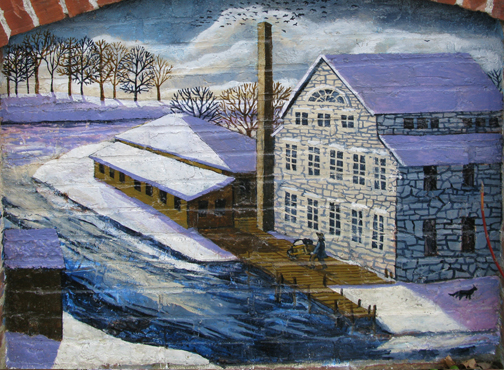 In 1868, Amos A. Lawrence established the Ipswich Hosiery Mills in the old stone mill on the Ipswich River