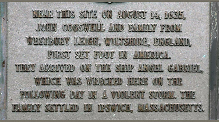Angel Gabriel plaque for Cogswell family