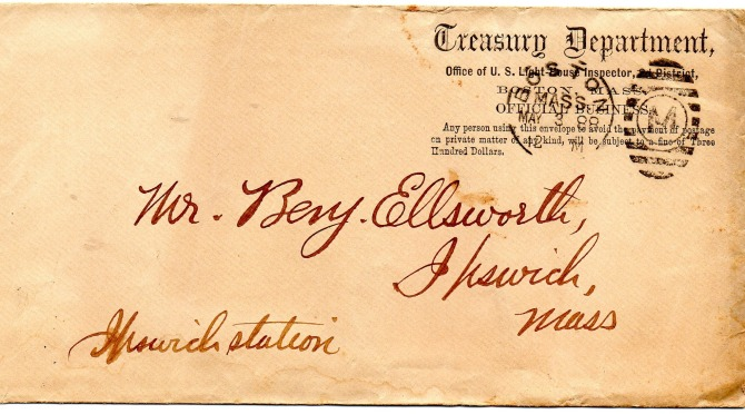 Letter to Benjamin Ellsworth, 1899