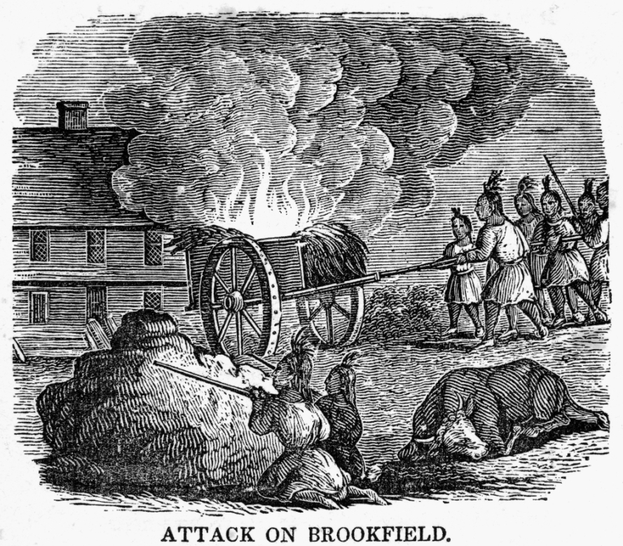 Attack on Brookfield during King Philip's War