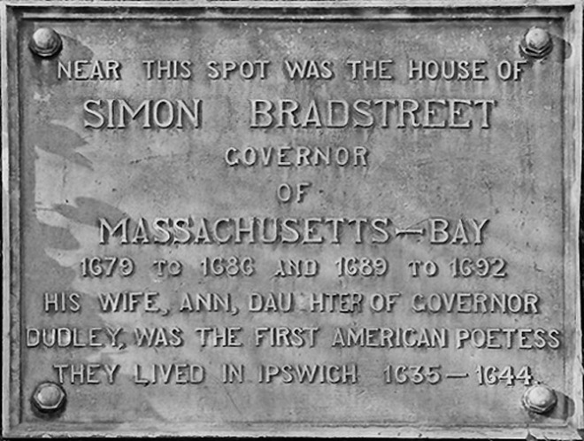 Anne Bradstreet 's home in Ipswich was near or at the location of the Waldo-Caldwell house on High St.