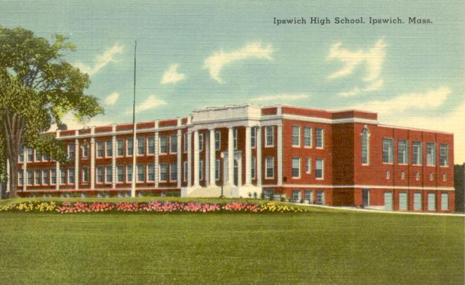 Ipswich High School on Green St., now the Town Hall.