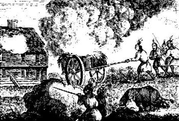 Metacomet's forces attacked the settlement at Brookfield and set it on fire.