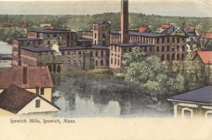 The19th Century dam at the former mill , now EBSCO, was built on the upper falls or rapids.