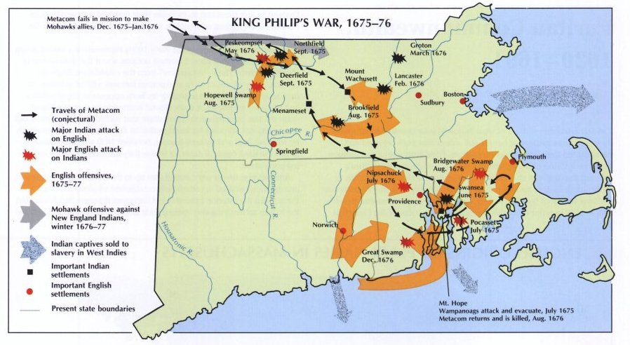 Map of King Philip's War