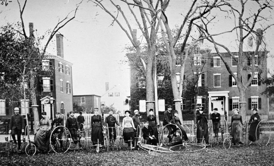 The Ladies North Shore Cycling Tour, 1885, Salem MA