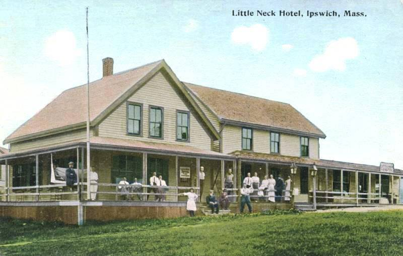 The Little Neck Hotel on the left, and the Little Neck store is attached on the right.