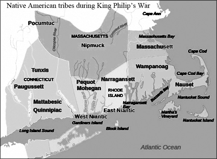 Massachusetts Native American tribes in King Philip's War