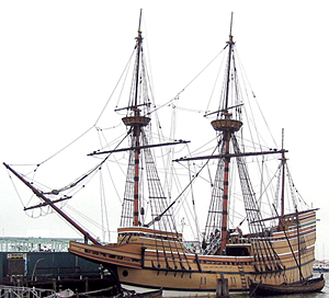 The Angel Gabriel was similar to the Mayflower but a couple of feet longer and carried four more guns.