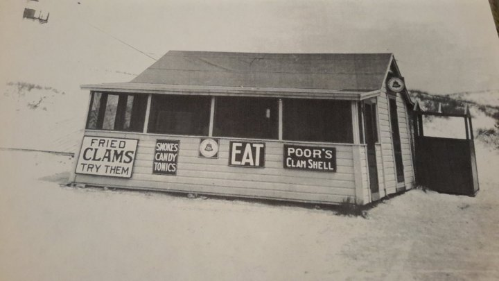 Poor's clam shack was at Pavilion Beach before Helen's Pavilion.
