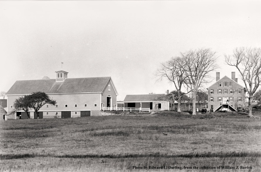 The Town Farm, photo by Edward L. Darling courtesy of William Barton. Dr. Berry's farm fell apart after his demise, and eventually the land became the Poor Farm, located at the end of Town Farm Road. The buildings were torn down in the 1940's.