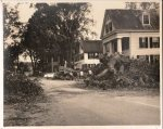 This #ThrowbackThursday image from 1954 shows a scene similar to scenes around Ipswich this week after the September 6 storm knocked down trees and power lines all over town. This image shows Jack and Molly Hayes' house (later owned by Dr Arthur Grimes) on South Green. The large trees were cut down due to Hurricane Carol damage in August of 1954.