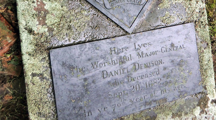 Daniel Denison grave at the Old North Burying Ground in Ipswich