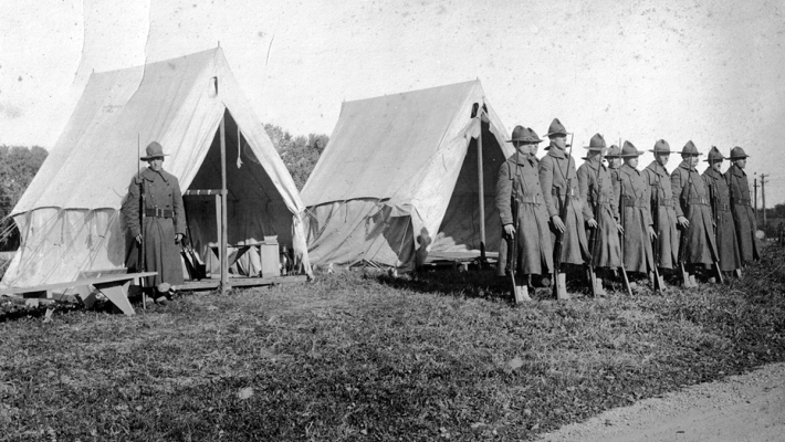 National Guard tents at Cable Hospital in Ipswich Ma during the 1918 flu epidemic