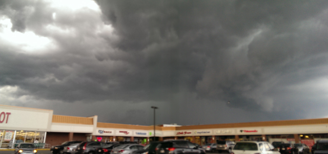 Deb Wysong was at the Market Basket in Danvers and took this photo of the microburst over Ipswich