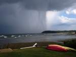 Shirley Berry took this photo of the storm from Pavilion Beach. Steep Hill is in the background