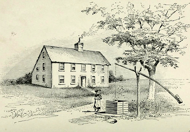 The house is portrayed in History of the Goodhue Family and is similar to the 1763 Goodhue family home on Topsfield Road.