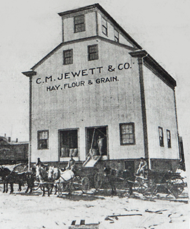 Jewett and Co also used the building as a grain silo.