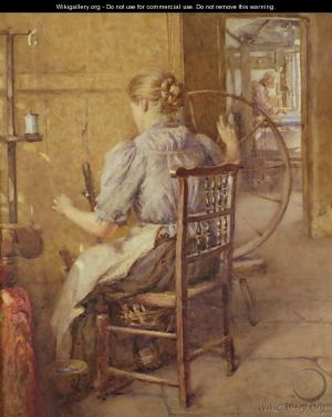 "The Spinning Wheel"" by Frederick William Jackson"