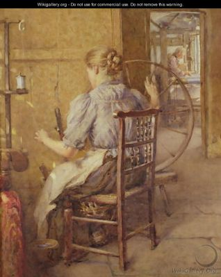 """The Spinning Wheel"""" by Frederick William Jackson"""