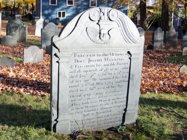 Tombstone of Doctor Joseph Manning