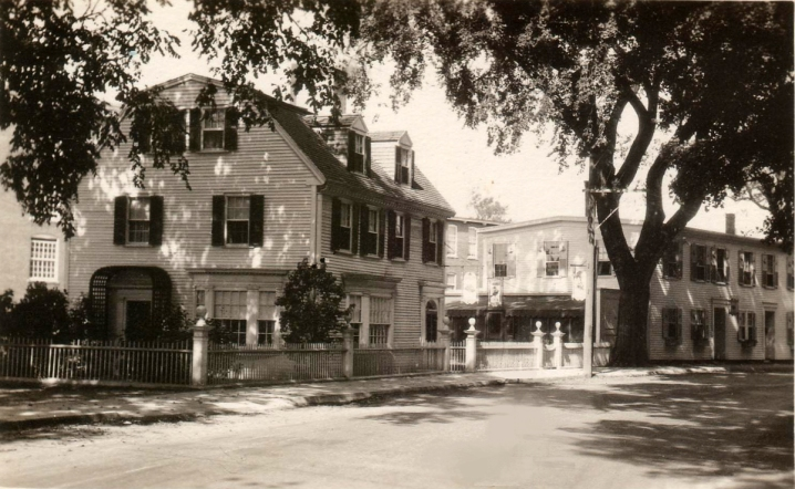 The Philomen Dean house and the Ipswich Mills Tea house on South Main Street.