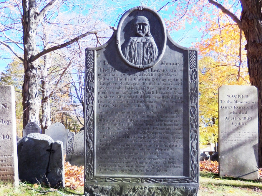 The tombstone of Nathaniel Rogers, Old North Burying Ground, section C156