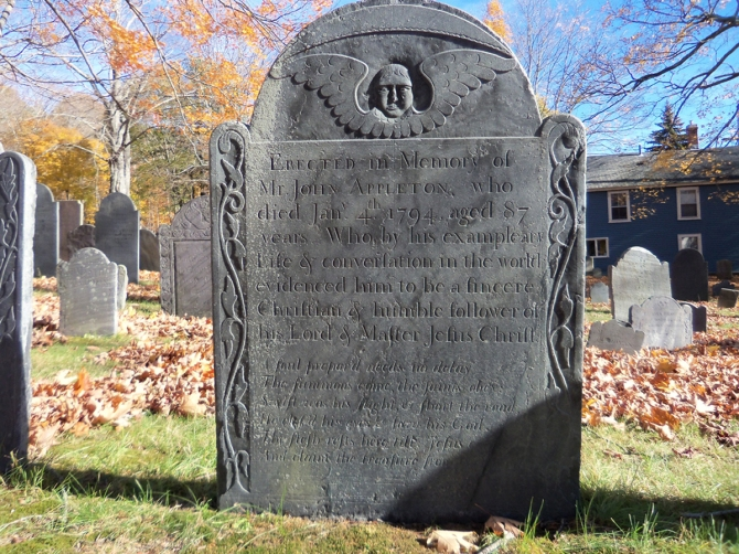 John Appleton's grave at the Old North Burying Ground, section C88