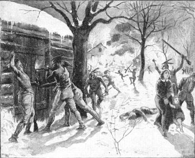 The raid on Deerfield, in which