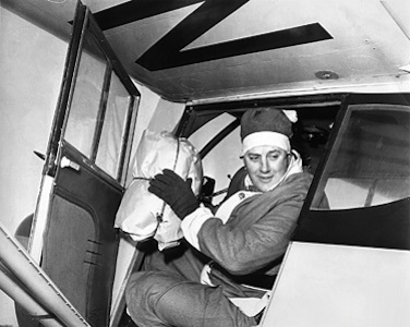 Edward Snow, the flying santa.