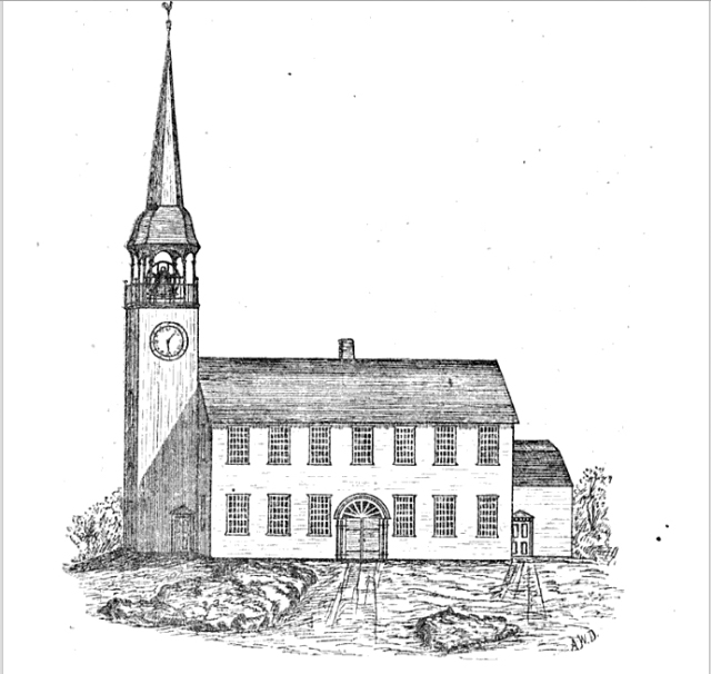 The Knowlton Pulpit was built for the First Church, which was taken down in 1749