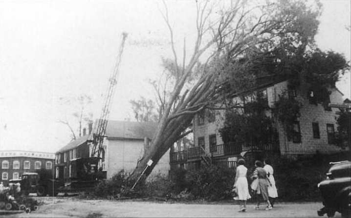 Damage from Hurricane Carol on Union Street