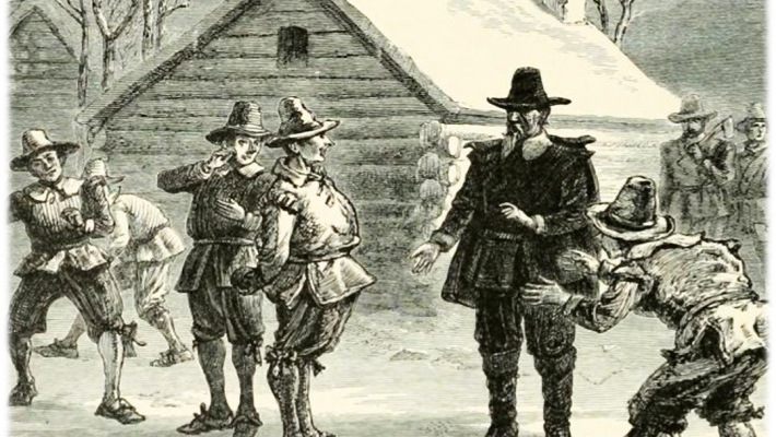 Drunk Puritans in Plymouth Colony