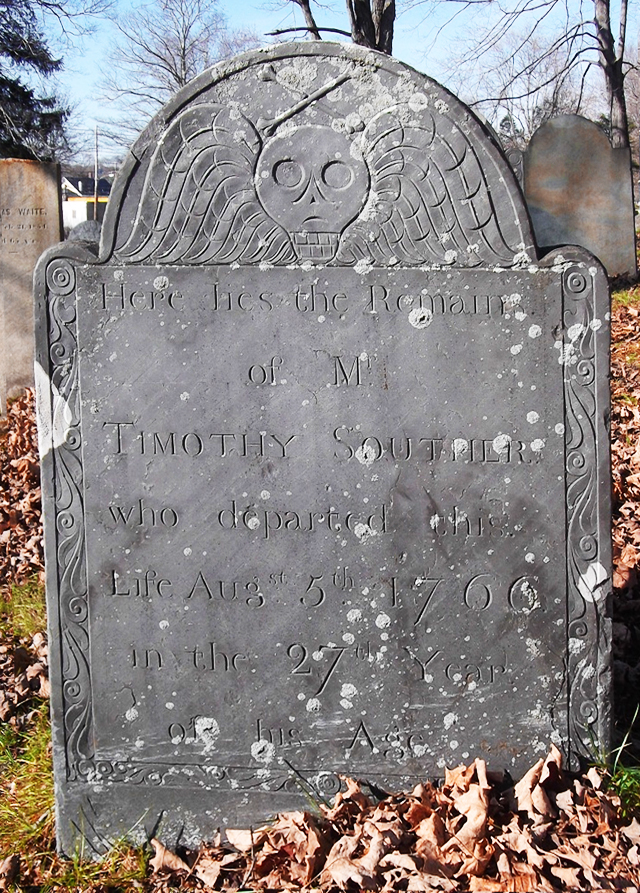 Gravestone of the first Timothy Souther, who was