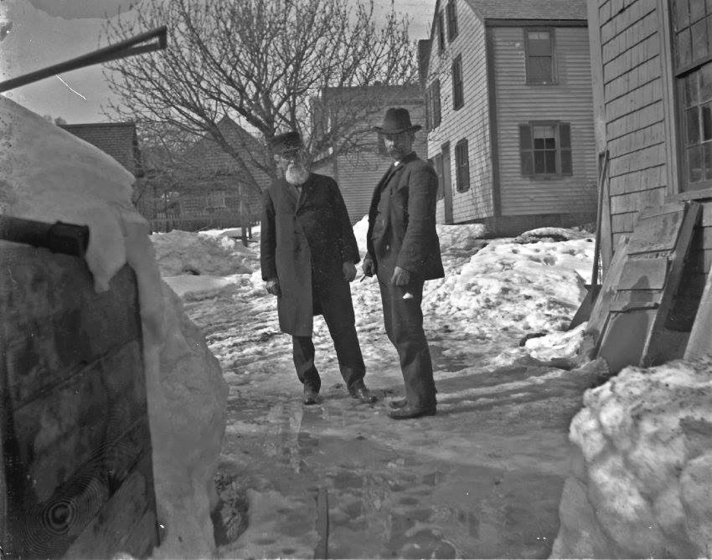 The Ipswich Museum provided this photo of two men standing in the driveway at 17 Summer Street. It is becoming apparent that the photographer lived in this house.
