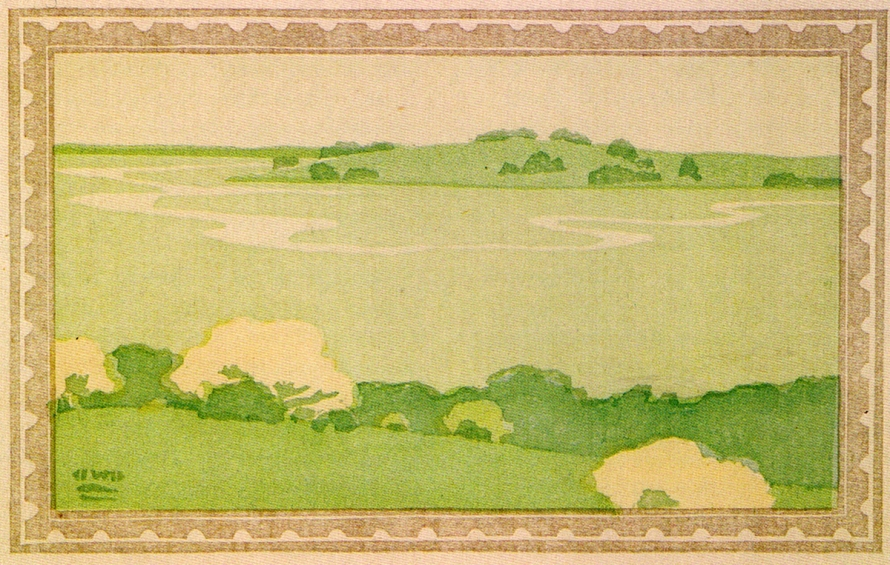 Marshes in the rain by Arthur Wesley Dow