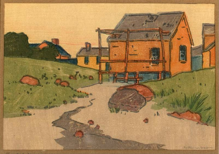 Clam house by Arthur Wesley Dow