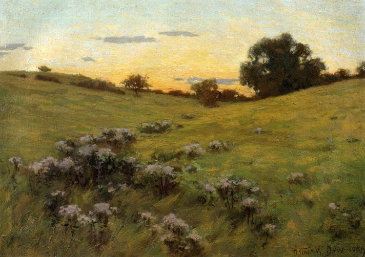 Flowering Hillside by Arthur Wesley Dow