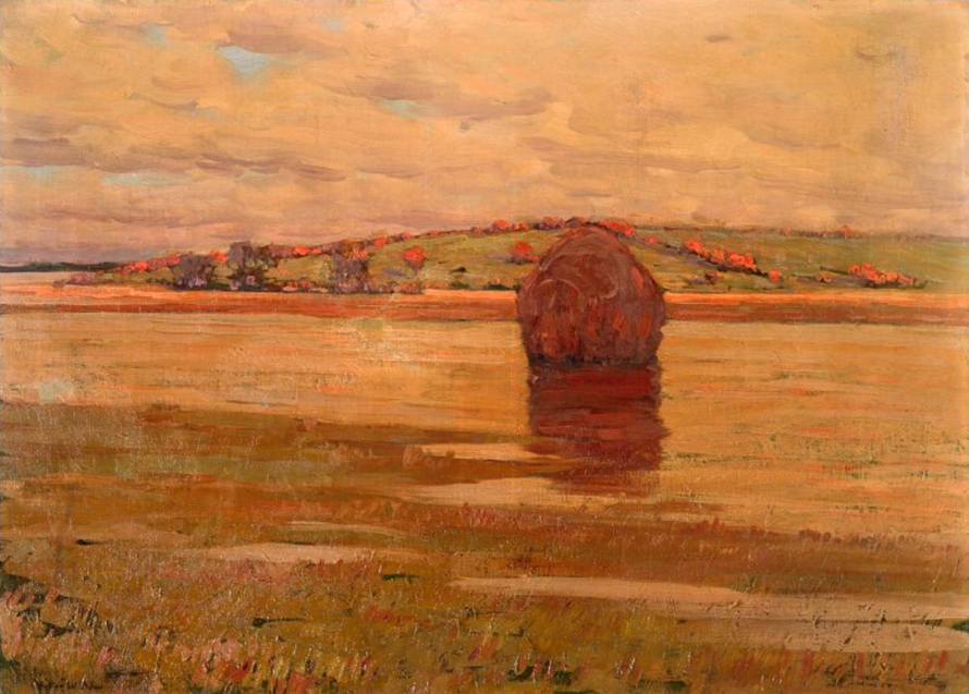 Hill beyond the Marsh by Arthur Wesley Dow
