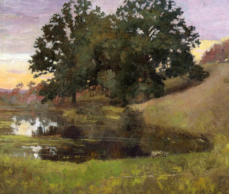 Hillside Pool by Arthur Wesley Dow