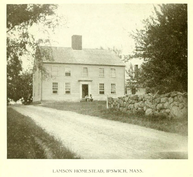 This circa 1900 photo of the Lampson homestead is in the Lampson book, but cannot be identified today.