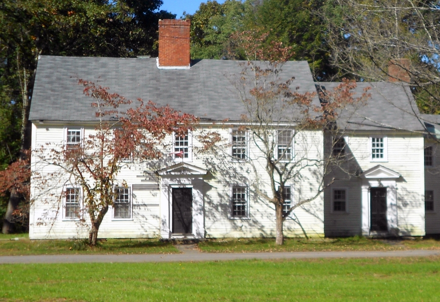 The Colonial-era Lamson house still stands in Bradley Palmer State Park in Toipsfield MA.