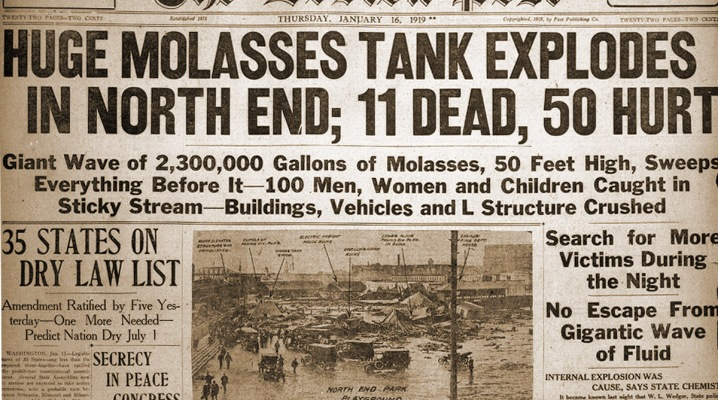 Boston Post molasses explosion January 16, 1919