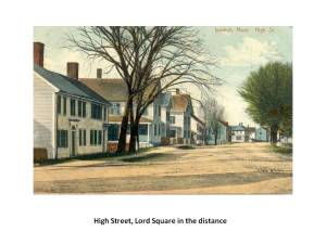 High Street has the greatest concentration of First Period homes in America